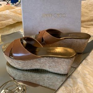 Jimmy Choo Sandals Vachetta leather, cork bottom